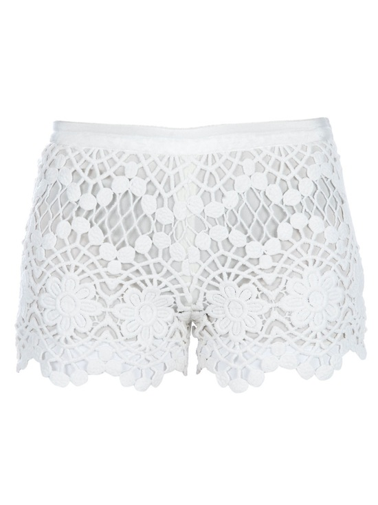 Lace short shorts for summertime brides
