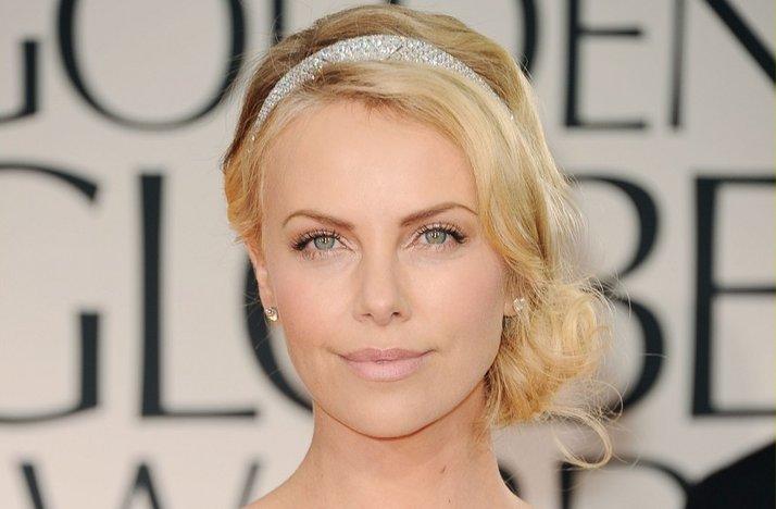 Charlize-theron-2012-golden-globes-vintage-updo-natural-bridal-makeup.full