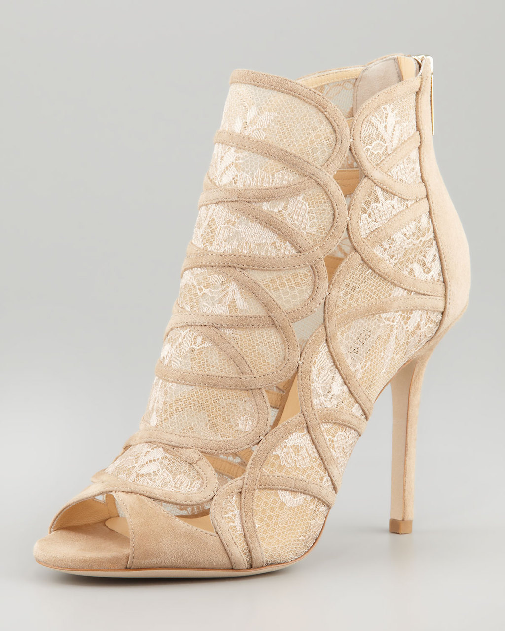 nude lace Jimmy Choo bridal booties
