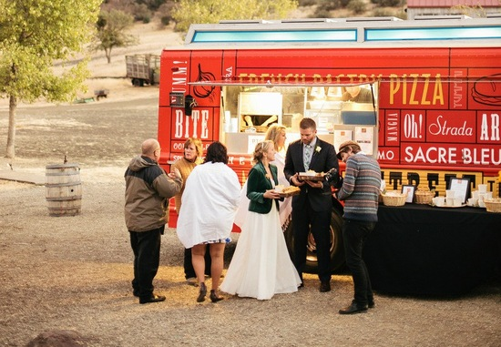 Food truck at outdoor wedding top trends of 2013