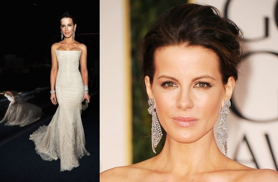 wedding hair makeup ideas kate beckinsale 2012 golden globes