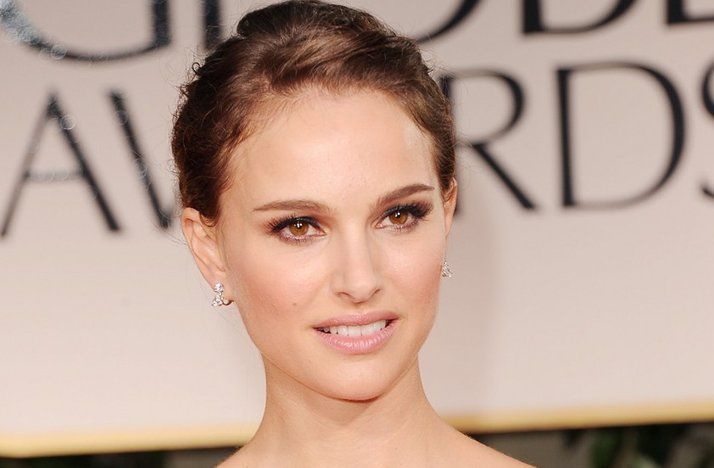 natalie portman 2012 golden globes bridal beauty