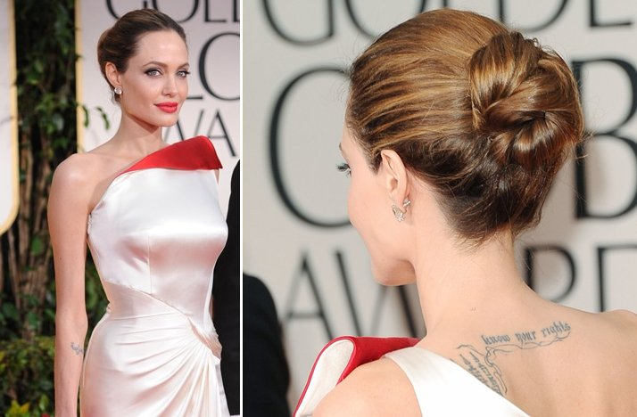 angelina jolie 2012 golden globes bridal hair makeup ideas
