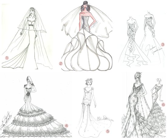 2012 wedding dresses anne hathaway bridal gown sketches celeb weddings