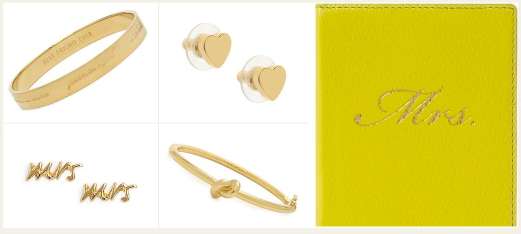 kate spade wedding jewelry gold