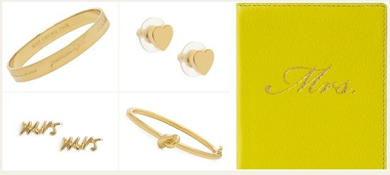 photo of Kate Spade Gifts for Brides + Bridesmaids