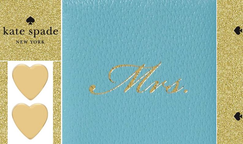 Kate Spade Wedding Gift Ideas : kate spade wedding gifts something blue gold bridal jewelry OneWed ...