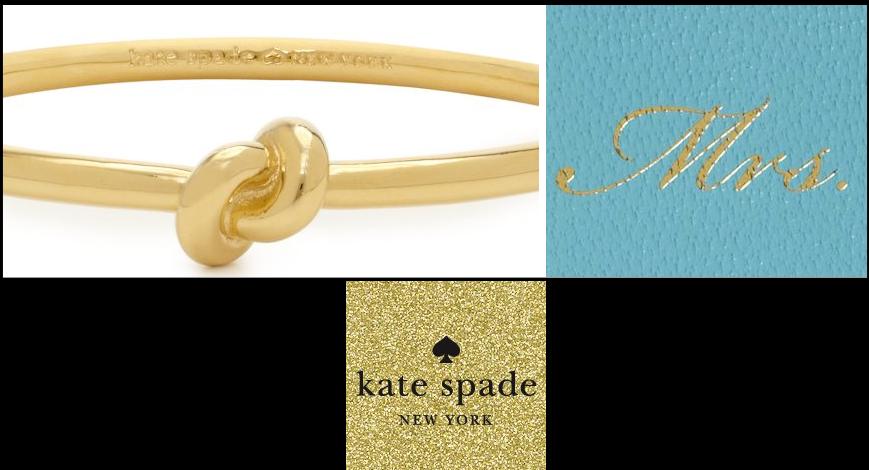 Kate Spade Wedding Gift Ideas : kate spade wedding gifts bridesmaids jewelry mrs notebook OneWed.com