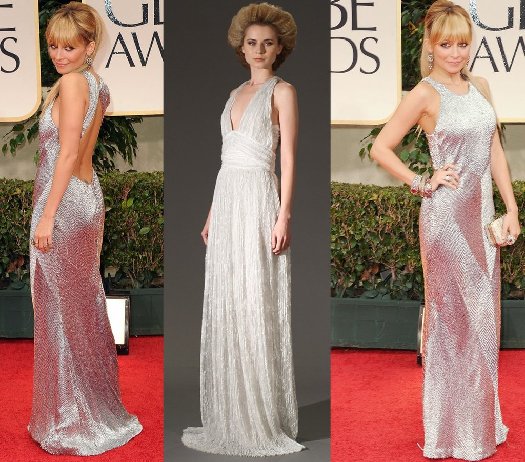 Nicole-ritchie-golden-globes-silver-wedding-dress.full