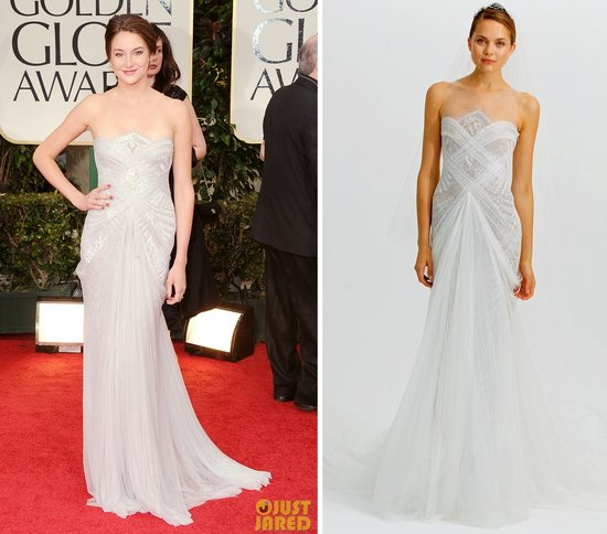 marchesa wedding dress 2012 golden globes
