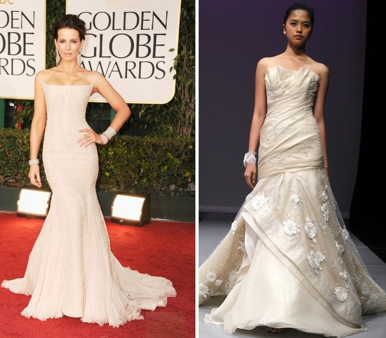 kate beckinsale golden globes 2012 wedding dress ideas strapless