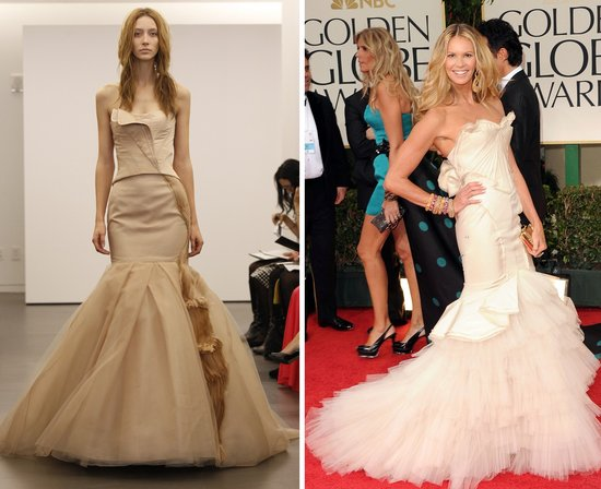 elle mcphereson 2012 wedding dress vera wang golden globes