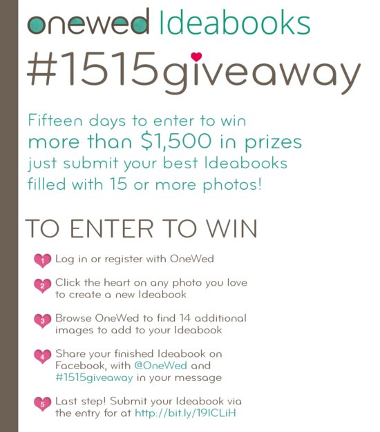 photo of Enter the OneWed Ideabooks #1515Giveaway