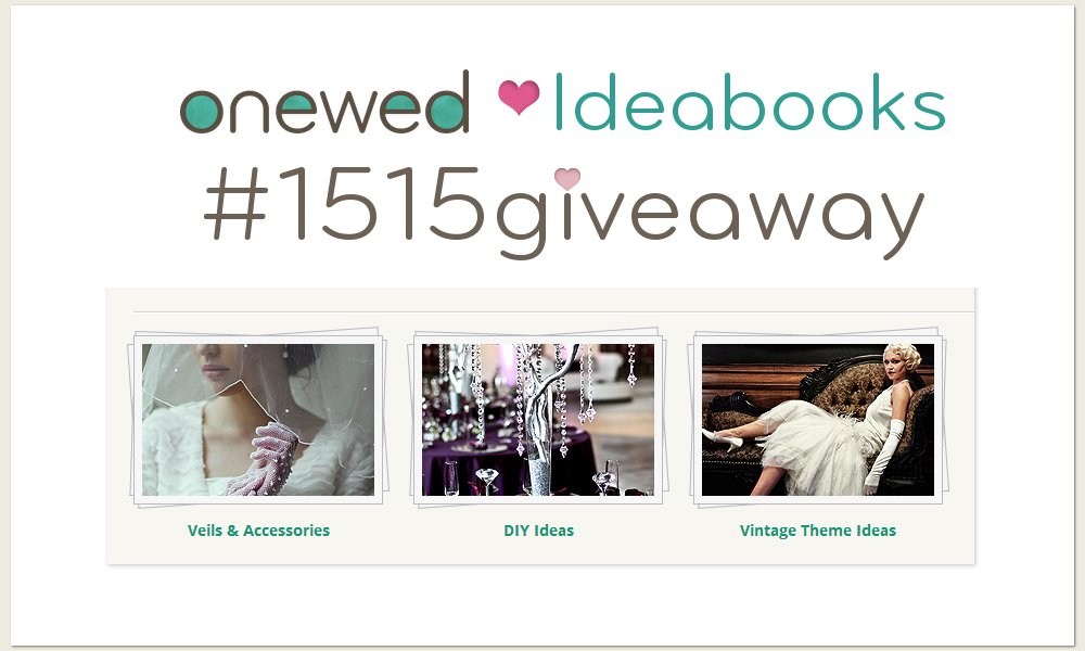 OneWed Ideabooks Giveaway 1515 through June 20 2