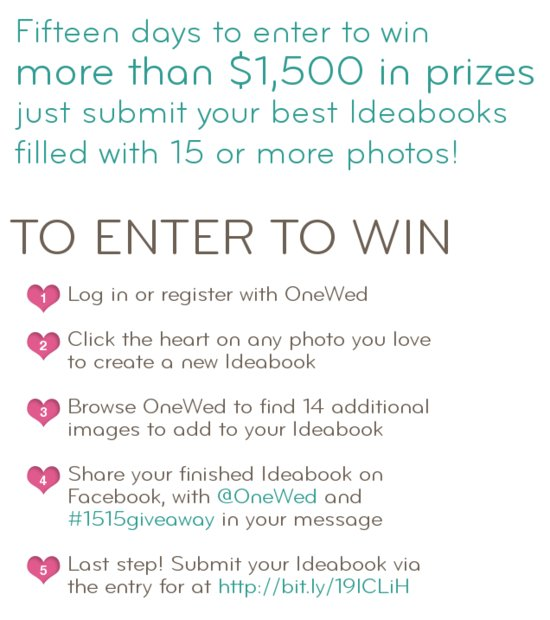Wedding Giveaway OneWed Ideabooks How To Enter