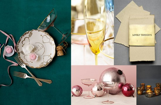 silver gold wedding decor ideas bhldn vintage wedding style