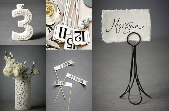 black white bhldn wedding inspiration reception decor centerpieces
