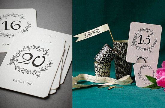 black white wedding decor ideas reception table numbers