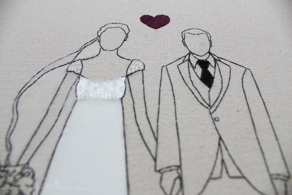 Handmade-wedding-art-bride-groom-cap-sleeves.full