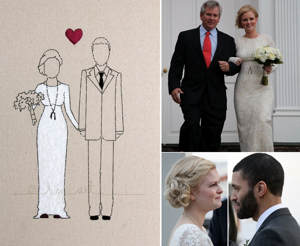 bride groom wedding portrait keepsakes