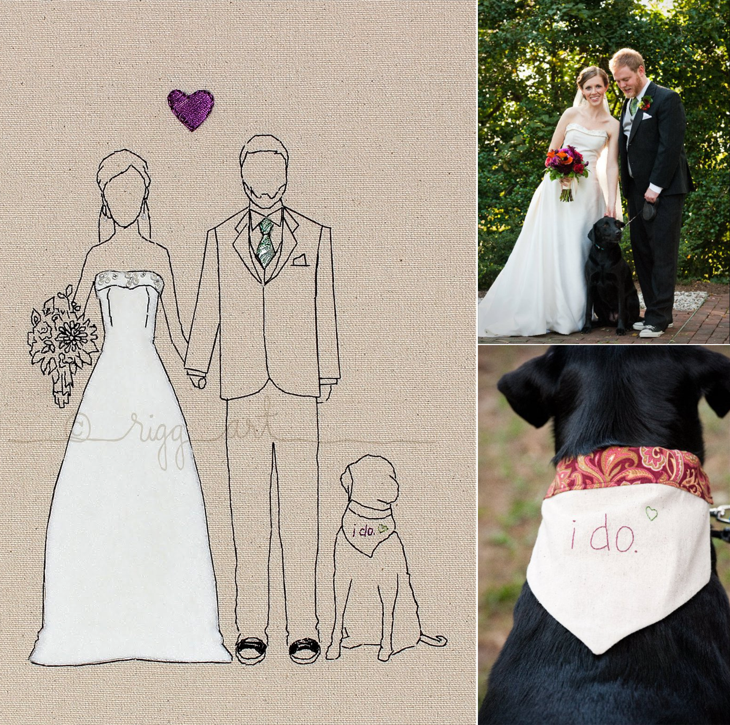 Wedding-portraits-handmade-bride-groom-art.original