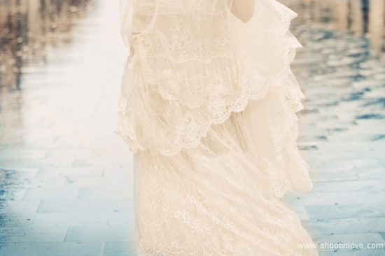 romantic lace wedding dress by manon pascual