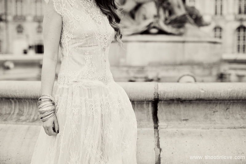 Manon Pascual wedding dress bridal shoot vintage romance 3