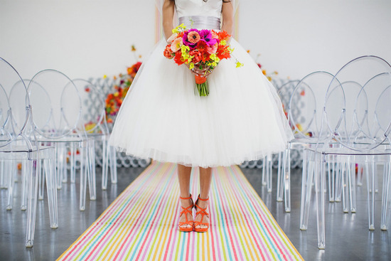 Modern brights wedding color inspiration