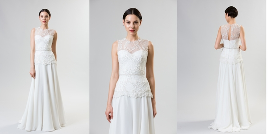 Classic and modern junko yoshioka summer spring 2014 wedding dress macaroon