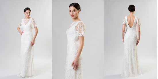 Necklines we love junko yoshioka summer spring 2014 wedding dress marzipan