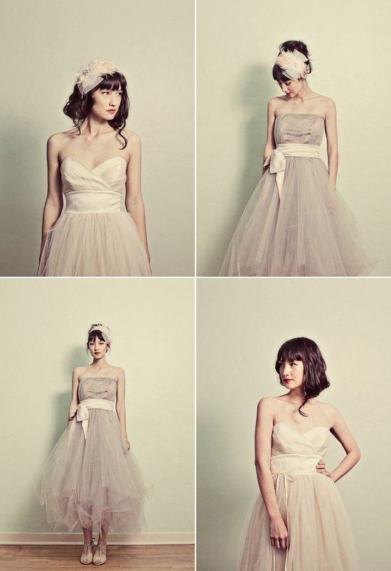 photo of Whimsical tulle wedding dresses