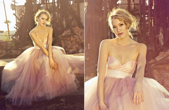 pink wedding dress 2012 bridal trends tulle