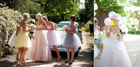 tulle wedding dresses short bridesmaids dresses