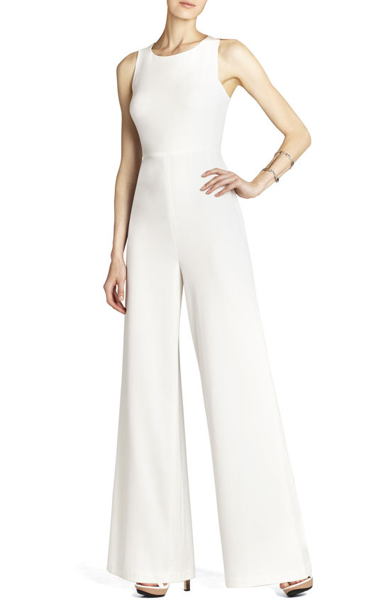 BCBG wedding dress Max Azria Bridal retro pants jumper