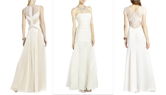 photo of BCBG affordable wedding dresses for all style brides statement backs 2