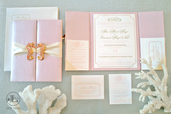photo of Lela New York - couture wedding invitations and stationery