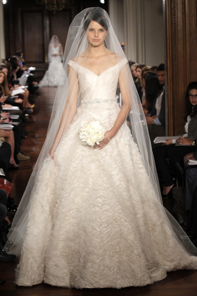 Romona Keveza Wedding Dress Fall 2012 Bridal Gowns Fairytale Ballgown Off Shoulder