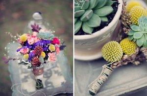 photo of Real Wedding Inspiration | Colorful Wildflowers, Bohemian Romance