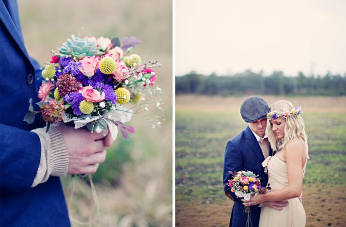 Outdoor-bohemian-wedding-colorful-bridal-bouquet.full