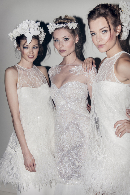 photo of Ethereal Pronovias brides 2014 Elie Saab collection