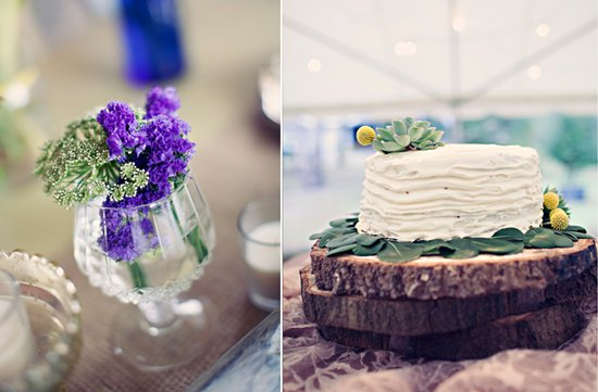 outdoor bohemian wedding simple wedding cake