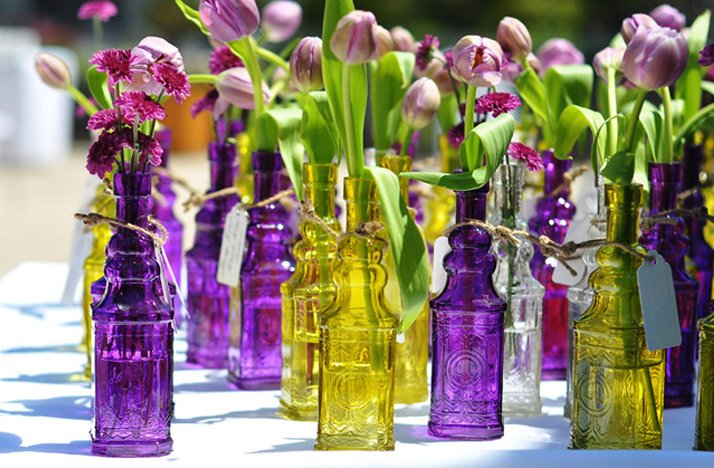 2012 wedding trends scaled back wedding reception centerpieces