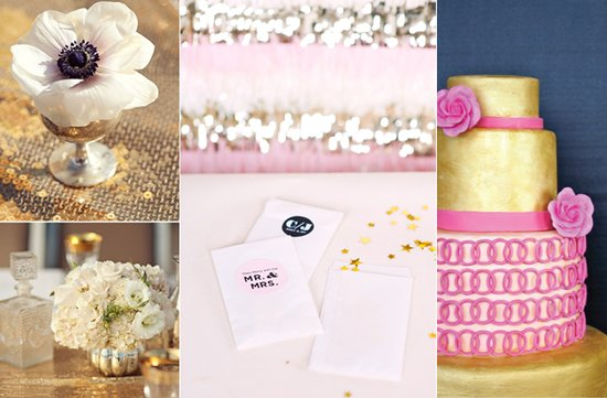 2012 wedding trends gold silver decor