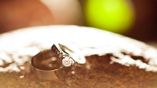 rustic barn wedding IL photographers ceremony ring exchange