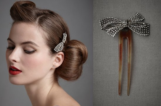 2012 wedding trends retro glam wedding hair