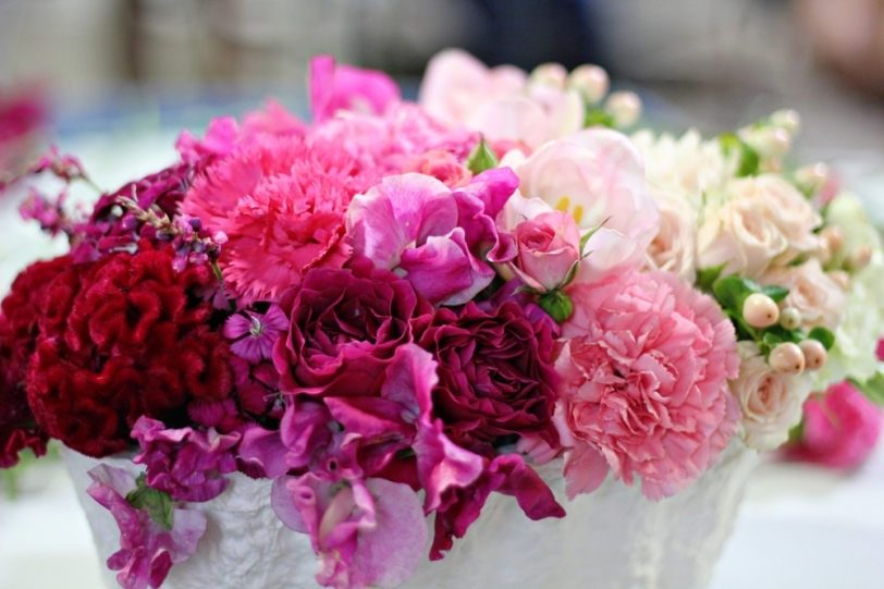 Pink-ombre-wedding-centerpiece-with-red-coxcomb.full
