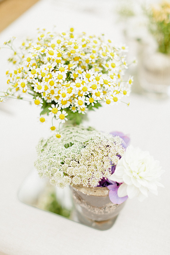 Aster wedding flower arrangements for summertime