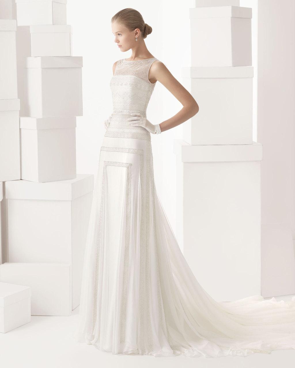 Rosa clara wedding dress 2014 bridal cintia for Rosa clara wedding dresses 2014