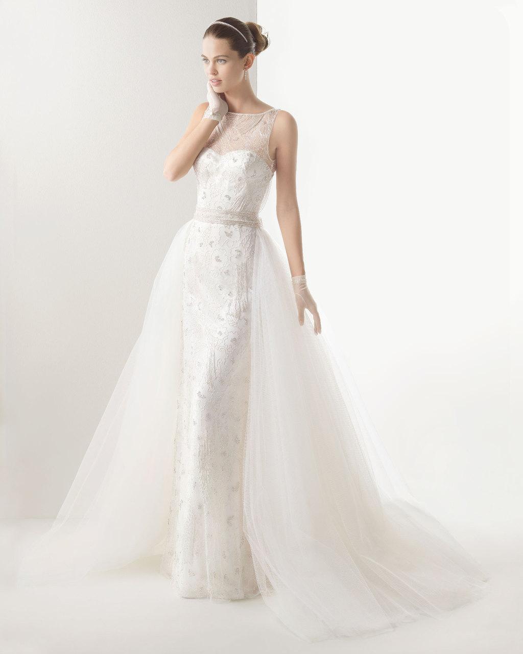 Rosa clara wedding dress 2014 bridal claudia for Wedding dress rosa clara