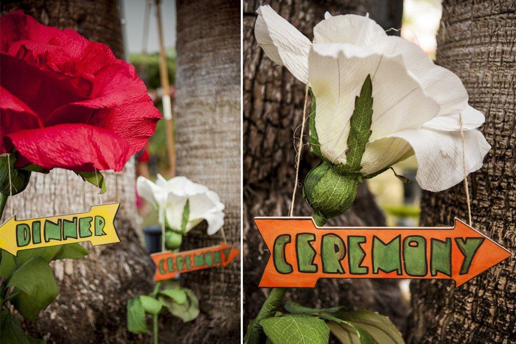 Unique wedding diy details huge paper flowers handmade signs mightylinksfo